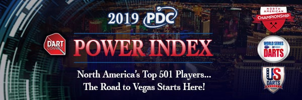 2019 PDC Power Index – Top 501 Players in North America